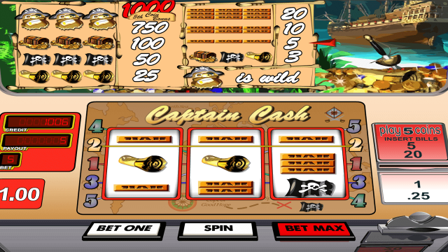 Captain Cash by Betsoft 8