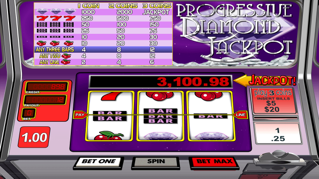 Progressive Diamond Jackpot 3